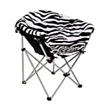 GOJOOASIS Folding Saucer Chair Moon Round Soft Comfortable Club Seat for TV Living Room Dorm