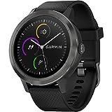 Garmin Vívoactive 3 - Smartwatch con GPS, app per l'attività sportiva e cardiofrequenzimetro da polso integrati, colore: nero e grigio piombo, Black & Gunmeta