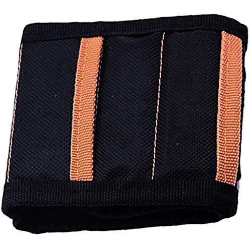 Tuimiyisou Titular magnética Pulsera de Hombres Gadget Herramienta Imanes de la Correa de muñeca Banda Organizador Negro Bien Material