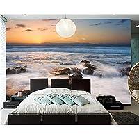 3D壁紙ポスター波の岩カスタム大規模な壁紙の壁紙3Dテレビの背景リビングルームの写真の壁紙3Dルームの壁紙-200X140cm(78 x 55インチ)