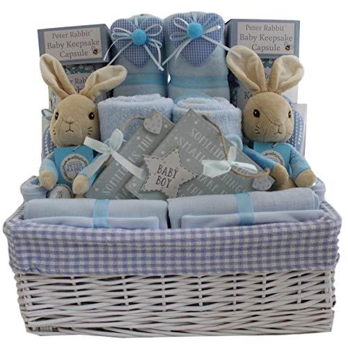 Bebé niño Twins cesta de regalo Peter Rabbit bebé Twin Boys cesta regalo bebé doble ducha regalo nuevo bebé regalo para niños gemelos