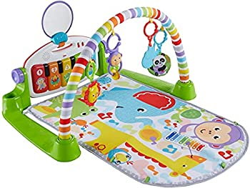 Fisher-Price Deluxe Kick  n Play Piano Gym Green Gender Neutral  Frustration Free Packaging