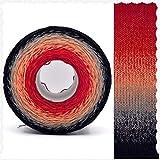 AUBERSIT 300g / 1000M hilo teñido de segmento arcoíris de lino multicolor, 6 hebras DIY tejido suéter sombrero capa hilo de pastel, 60