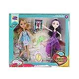 KING JUGUETES Pack 2 Muñecas Princesas con Disfraces, Zapatos y Accesorios Elegancy Queen. Muñecas...