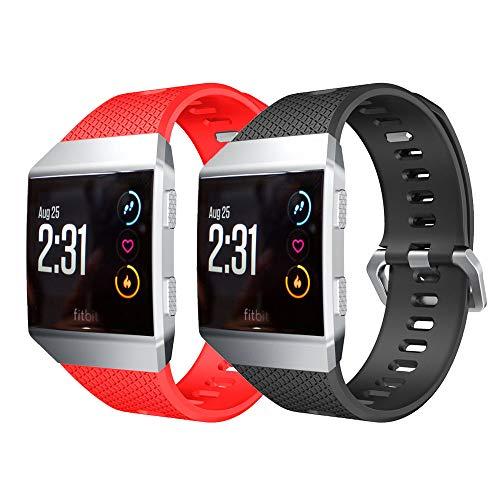 YPSNH Compatible pour Fitbit Ionic Bracelet de Remplacement Sport Souple en Silicone Ionic Bracelet pour Hommes,Femmes