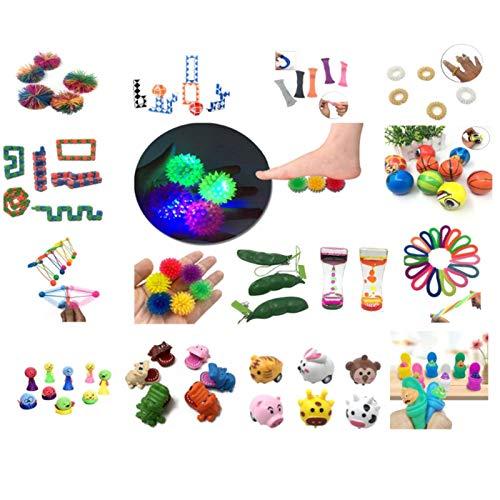 40 Stks Sensory Toy Set Sensory Fidget Toys Set ,Anti Stress Spielzeug Set ,Schlüssel Anti-Stress Entlastende , Stress Abbauen Antistress Spielzeug Squeeze Toy ,Für Kinder Und Angst Mit Angstlust