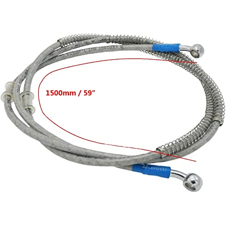 Brake Clutch Braided Steel Oil Hoses Line Pipe for Motorcycle Pit Dirt Bike Enduro Motocross Street Bikes 120cm//47.2