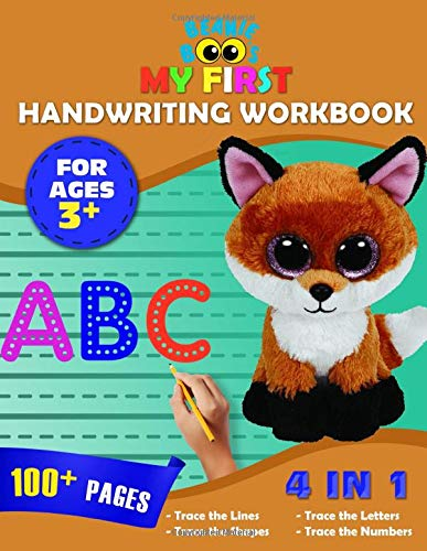 Beanie Boos My First Handwriting Workbook: 4-in-1 Make Learning Fun Tracing Book for Kids Ages 3+ (Tracing the lines, shapes, ABC letters, numbers)