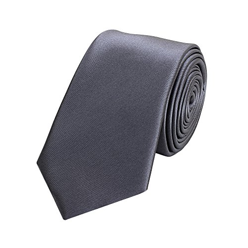 Fabio Farini - Cravate Homme unie 6cm largeur couleurs au choix Gris