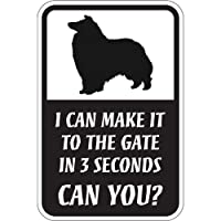 CAN YOU?マグネットサイン:コリー(スモール) I CAN MAKE IT TO THE GATE IN 3 SECONDS, CAN YOU? 英.