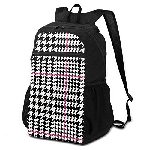 Bag for Hiking Classical English Glen Plaid Travel Womens Daypack Travel Hike Backpack Daypack Lightweight Waterproof for Men & Womentravel Camping Outdoor