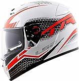 LS2 Helmets - FF390 - Breaker - Split White Red Matt Dual Visor