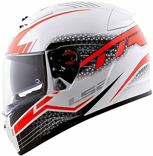 LS2 Helmets - FF390 - Breaker - Split White Red Matt Dual Visor Full Face Motorcycle Helmet (Size: L - 58 cms)