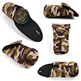 DURAGADGET Water-Resistant Neoprene Camouflage Print Pouch - Compatible with The Boombotix REX 2.0