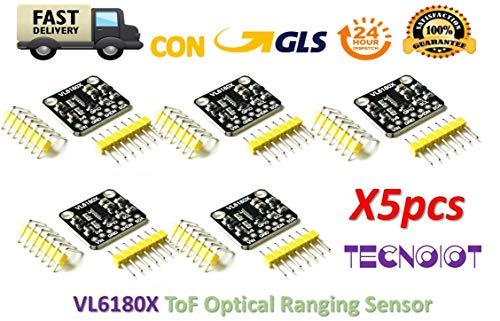 TECNOIOT 5pcs VL6180 VL6180X Range Finder Optical Ranging Time-of-Flight Distance Senor