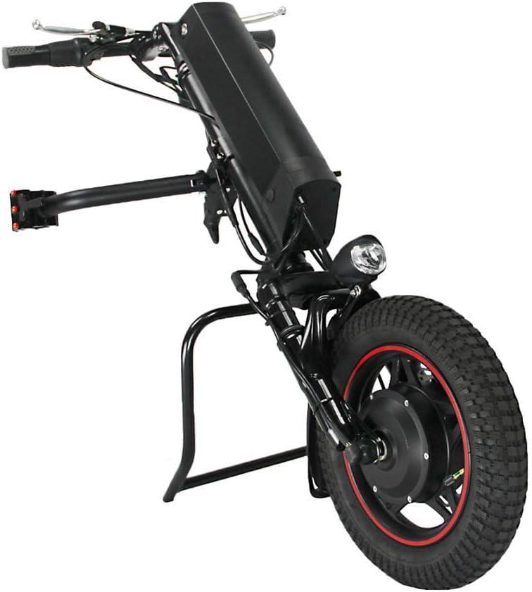 GMtes Silla de Ruedas eléctrica del Tractor Triciclo Handbike Bricolaje eléctricos de la conversión de Ruedas Kits de activación del Cabezal para Personas de Movilidad Reducida Coche,11.6Ah