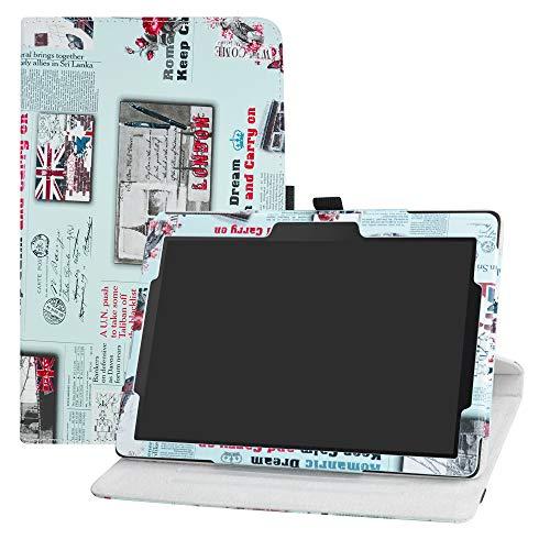 LFDZ Lenovo Tab E10 draaiende Hoesje,PU leren Flip Hoesje met 360 graden draaiende houder Hoes voor Lenovo Tab E10 2018 10-Inch Tablet,Krant