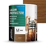LASUR PROTECTOR AL AGUA MATE Protege, decora y embellece todo tipo de madera. (750 ML,...