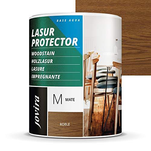 LASUR PROTECTOR AL AGUA MATE Protege, decora y embellece todo tipo de madera. (750 ml, ROBLE)