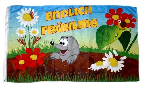 Fahne/Flagge Endlich Frühling 90 x 150 cm