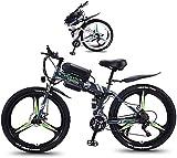 Bicicleta Eléctrica Plegable Bicicleta eléctrica de nieve, bicicleta eléctrica plegable de neumáticos de grasa para adultos con 26 'Super ligero peso ligero de aleación de magnesio con rueda eléctrica