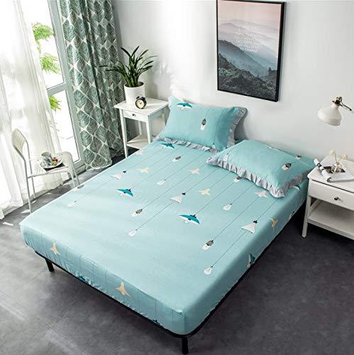 SUYUN Antiallergischer Matratzenbezug mit Reißverschluss, wasserdichter und atmungsaktiver Matratzenbezug,Blauer Kronleuchter120 * 200cm
