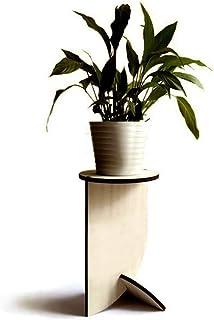 Moderno piedistallo rotondo alto espositivo per piante di design in molti colori Supporto legno espositore vaso da fiori i...