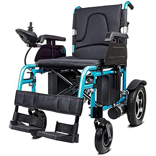 YIQIFEI Silla de Ruedas Plegable eléctrica Ligera de Aluminio Silla eléctrica para discapacitados Carro Plegable Viejo discapacitado Scooter Compensat (Silla)