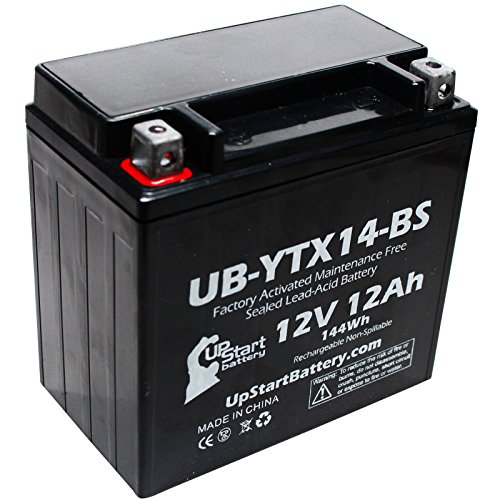 Replacement for 2002 Honda TRX350 Rancher 350 CC Factory Activated, Maintenance Free, ATV Battery - 12V, 12AH, UB-YTX14-BS