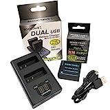 SIXOCTAVE Panasonic パナソニック DMW-BLE9 / DMW-BLG10 互換 バッテリー 残量表示可能 純正充電器で充電可能 純正品と同じように使用可能 デュアル USB 急速互換充電器 カメラ バッテリー チャージャー DMW-BTC9 バッテリー2個まで同時充電可能 純正 互換電池共に対応 2点セット LUMIX ルミックス DMC-GF3 / DMC-GF5 / DMC-GF6 / DMC-GX7 / DMC-GX7 Mark II / DMC-TZ85 / DC-TZ90 / DC-TZ95 / DMC-GX7MK2 / DMC-GX7MK3 / DMC-TX1 / DMC-LX100 / DC-TX2 / DC-LX100M2 / DC-GX7MK3L
