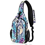 Waterfly Crossbody Sling Backpack Sling Bag Travel Hiking Chest Bag Daypack...
