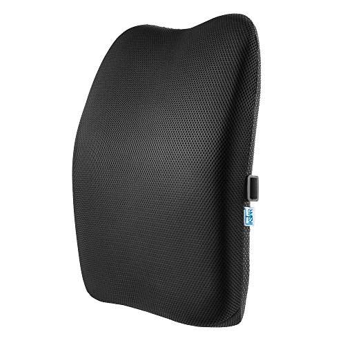 IKSTAR クッション 低反発 ランバーサポート オフィス 椅子 車用 腰枕 RoHS安全基準クリア 取付バンド調節...