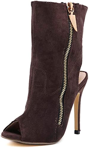 GHFJDO Frauen Winter Herbststiefel, Fashion Solid Fish Mouth Lace-up Over The Knee Stiefel Martin Stiefel Ladies Zip Slim High Heel