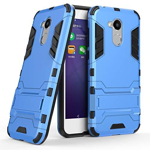 COOVY® Funda para Huawei Honor 6a de plástico y Silicona TPU, extrafuerte, con protección contra Golpes, Funda con función Atril   Azul