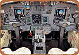 OURTrade 8 x 12 Tin Metal Sign - Vintage Look Airplane Art - 1989 Cessna Citation Cockpit