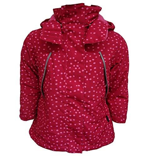 Outburst - Mädchen Winterjacke Jacke Funktionsjacke abnehmbare Kapuze wasserabweisend 10.000 mm Wassersäule atmungsaktiv, pink gepunktet - 6826601, Größe 98