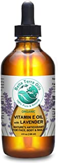 NEW ITEM! Vitamin E Oil Lightly Infused With Lavender Essential Oil. 4oz. 100% Pure. D-alpha Tocopherol. Natural Antioxidant. Organic. 75,000 IU. - Bella Terra Oils