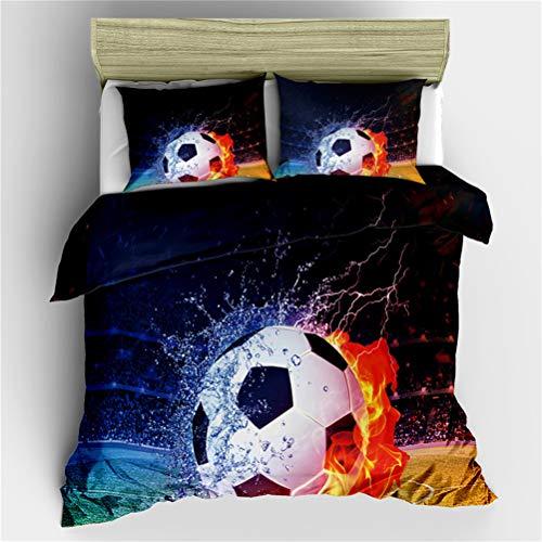 LanS 3d World Cup Soccer Stadium duvet cover bedding Set, duvet cover and pillowcase, 3 Piece Set bedding (duvet cover + 2 pillowcases) Single Double Duvet cover (C,AU-Single-140x210cm)