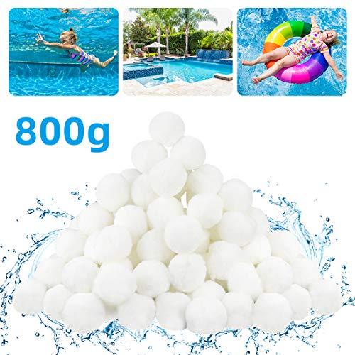 FHzytg Pool Filter, 800g Pool Filterballs, Filter Balls, Pool Filter Balls, Pool Balls Sandfilter, Pool Filter Balls ersetzen 29 kg Filtersand für Pool, Poolpumpe Balls Pool Filterbälle für Pool