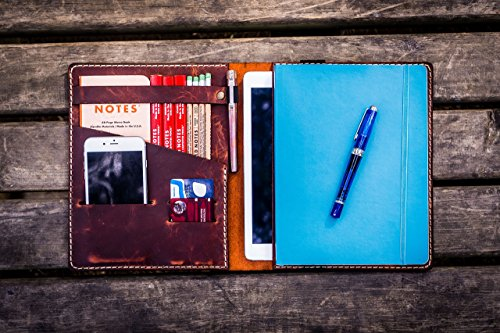 iPad Air & Extra Large Moleskine Cover - Crazy Horse Orange