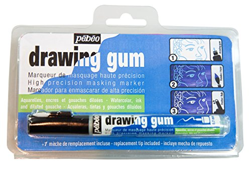 Pebeo Drawing Gum Marker .7mm-Natural Latex, 0,7 mm