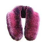 Modelshow Mujeres artículo de pieles collar removible cuello desmontable cuello falso de piel falsa para abrigos (lila)