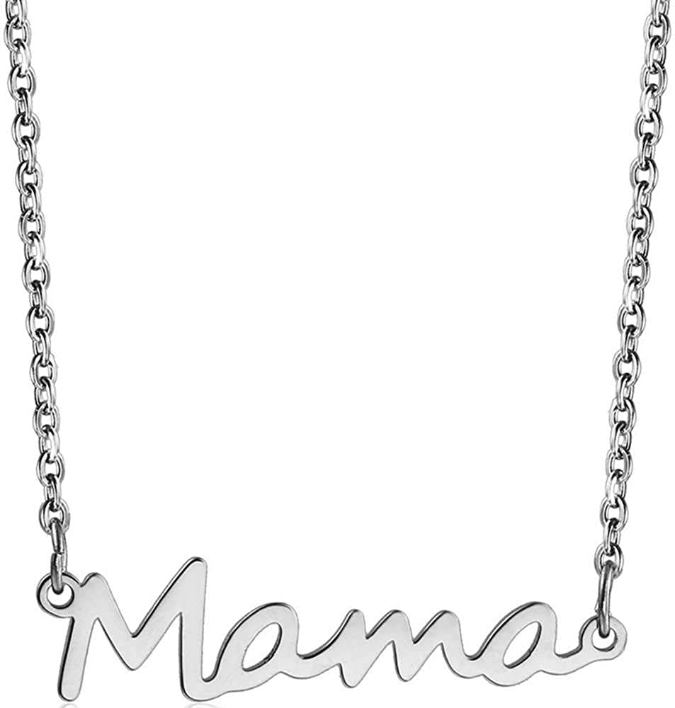 Jude Jewelers Stainless Steel Mother's Day Birthday Christmas Mama Mom Charm Collar Necklace