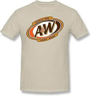 DaWang Round Collar T Shirt Men A&W-Root-Beer-Logo- Vintage Top