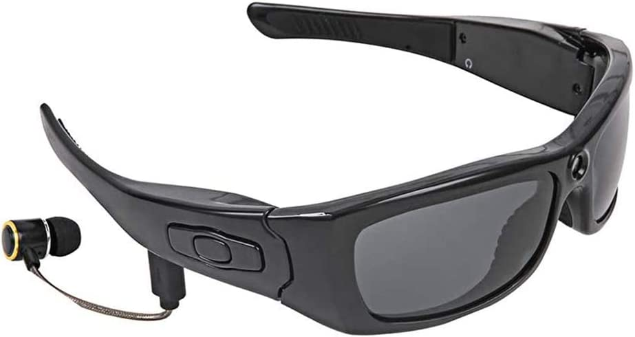 Bluetooth Smart Glasses, 1080P Camera Mini DV Video Recorder Glasses, Headphone Handsfree Driving Glasses Sport Cycling Sunglasses