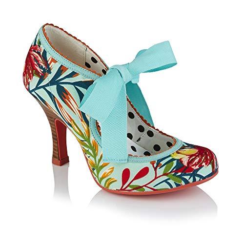 Ruby Shoo Willow Aqua Womens Hi Heels Court Shoes