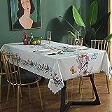 SUNFDD Ins Mantel PVC Impermeable Y A Prueba De Aceite Mantel Largo Mantel Mantel Mesa De Café Mantel Mantel Lámpara De Mesa Mantel 135x220cm(WxH) G
