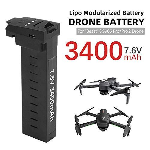 Leeofty Compatible con SG906 Pro Pro2 Drone Batería 7.6V 3400mAh 28mins Duración de la batería Batería de Litio del avión Tiempo de Vuelo prolongado
