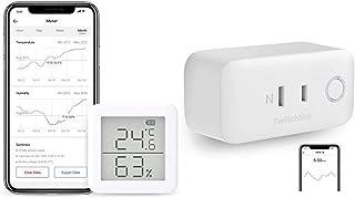 SwitchBot スイッチボット デジタル 温湿度計 + スマートプラグ Wi-Fi コンセント (1 Meter + 1 Plug)
