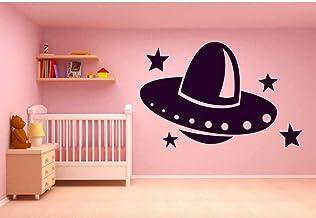 Decoración Del Hogar Etiqueta De La Pared Calcomanía Mural Habitación Diseño Art Deco Patrón Divertido Alien Galaxy 57C * 86M